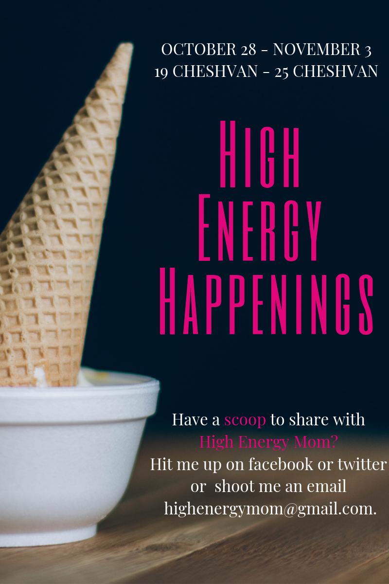 High Energy Happenings: October 28 – November 3
