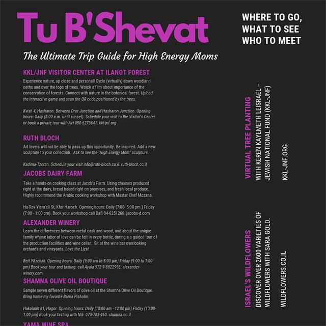 Tu B'Shevat Trip Guide